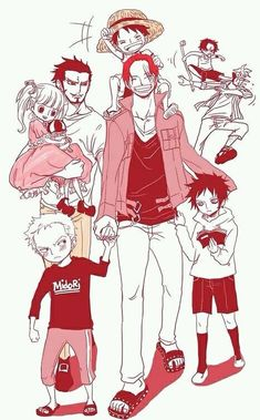 Kids.. ( with black hair, next to shanks on the left is Trafalgar )