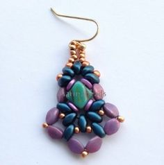 TUTORIAL Baroque Earrings by MarinaBeads06 on Etsy