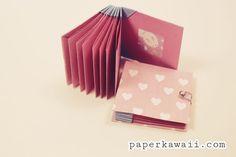 Origami Blizzard Book Tutorial Video via Origami Paper Folding, Modular Origami, Origami Box, Oragami, Mini Albums, Origami Step By Step, Bookbinding Tutorial, Kawaii Gifts, Useful Origami