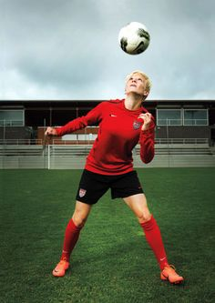 """Megan Rapinoe came out in plain language in Out Magazine in July (""""For the record: I'm gay."""") Big ups for doing it unapologetically at the top of her career. Rapinoe joins the rest of the US Women's National Team at the London Olympics in July Usa Soccer Team, Team Usa, Soccer Players, Football Soccer, Megan Rapinoe, Soccer Pictures, Soccer Pics, Soccer Drills, Only Play"""
