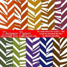 African Safari Colors Digital Pattern Papers package 1  on Craftsuprint - View Now!