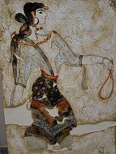 Fresco of Minoan beauty 1600 BC Crete Greece