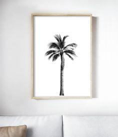 Palm Tree Print Art | Palm Tree Printable | Palm Tree Black and White Photography | Palm Tree Art Print | California Palm Tree | Tropical Decor | Tropical Home Decor | Tropical Print Art | Palm Art Print | Tropical Room Decor Ideas | Tropical Bedroom | Tropical Interior | Palm Tree Art | Palm Tree Bedroom Decor | Palm Tree Decor. By Little Ink Empire on Etsy