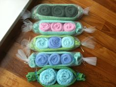 3 Peas in a Pod Washcloth set by thepennyposh on Etsy, $8.00