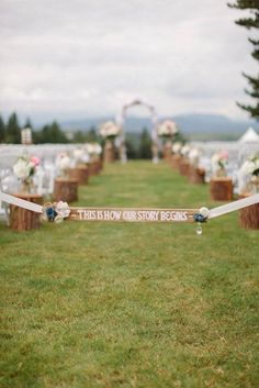 aisle tie off sign