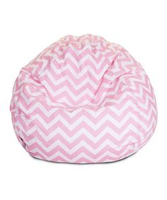 Take a look at this Baby Pink Zigzag Small Beanbag by Majestic Home Goods on #zulily today!