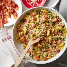 Skillet Ramen and Veggies From Better Homes and Gardens, ideas and improvement projects for your home and garden plus recipes and entertaining ideas.