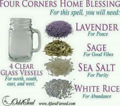 Witch Craftings: Four Corners Home Blessing Spell to Attract Purity and Abundance into Your House - Magick -