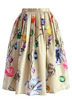 Wonder Dreams Pleated Midi skirt