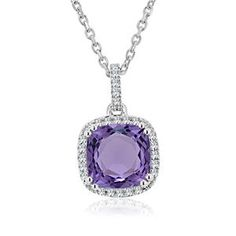 Shop online Arthurs Collection PAS-10107 White Gold GEMSTONE Necklaces at Arthur's Jewelers. Free Shipping