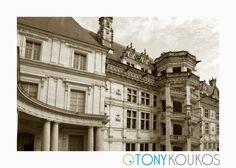 World Travel Photography Loire Valley, Renaissance Architecture, France, Medieval Castle, Rooftop, Louvre, Black And White, Stone, Batu