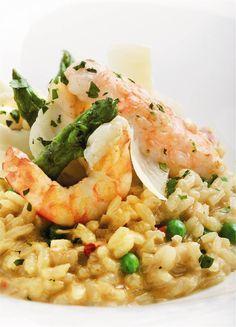 Risotto de marisco. Meloso y marinero. Rice Recipes, Seafood Recipes, Salad Recipes, My Favorite Food, Favorite Recipes, Lotsa Pasta, Rice Pasta, Portuguese Recipes, Pinterest Recipes