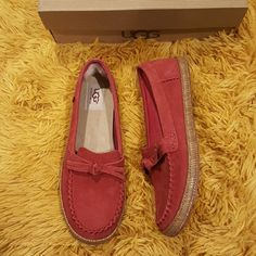 UGG Moccasins I am selling a cute NEW pair of UGG Moccasins.  They are size 8 in women. With box. The style is called Amila. Feel free to ask any questions! Thanks for viewing. UGG Shoes Moccasins