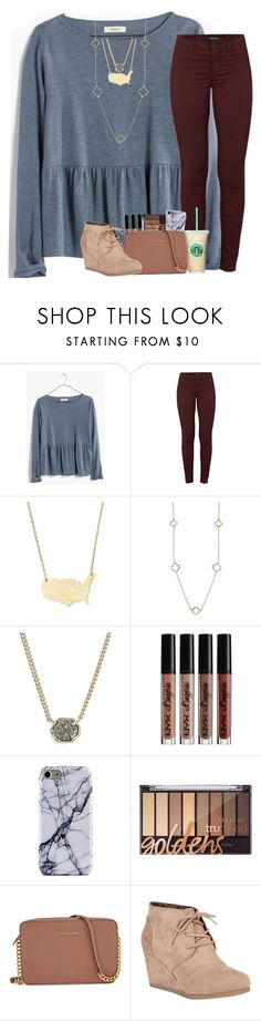 """September🍂🍁"" by abbypj ❤ liked on Polyvore featuring Madewell, J Brand, Moon and Lola, Humble Chic, Kendra Scott, Michael Kors and City Classified"