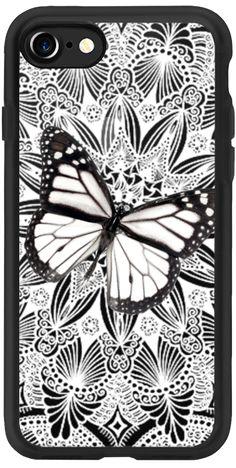 Casetify iPhone 7 Classic Grip Case - Butterfly on Lace by Li Zamperini Art #Casetify