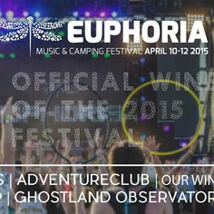 Proud to Announce we are the Official Wine of 2015 @euphoriamusfest! Headliners: Pretty Lights , Ghostland Observatory, Thievery Corporation