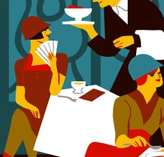 Virginie Morgand - Illustration for Citrus Magazine about history of restaurant