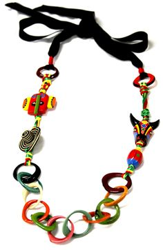 Collares del Carnaval de Barranquilla - Collar Carnaval Tagua Carnival, Crafts, Jewelry, Columbia, Party, Carnival Parties, Stud Earrings, Fabric Necklace, Hair Bows