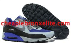 Nike Air Max 90 Shoes Dark Blue White Grey Low Black 333888 501