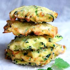 These easy bite size zucchini Parmesan cheese fritters make a healthy and delicious snack any time of the day!