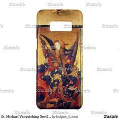St. Michael Vanquishing Devil as Medieval Knight Case-Mate Samsung Galaxy S8 Case #saintmichael #angels #archangel #religion #fineart #religious #christian #knight #medieval #devil