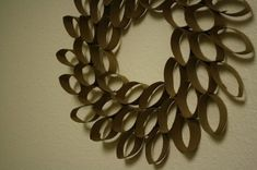 Toilet Paper Roll Wreath by mailalina