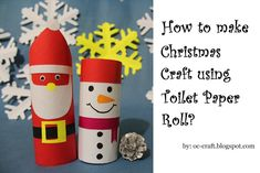 OC-Craft: How to Make Snowman Christmas Craft using Toilet P...