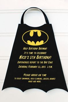 Superheroes Batman  Birthday Invitation by palmbeachpolkadots, $2.25