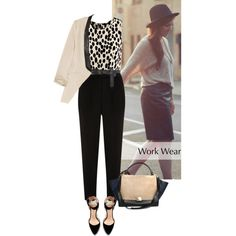 A fashion look from December 2012 featuring black shirt, pink blazer and black pants. Browse and shop related looks.