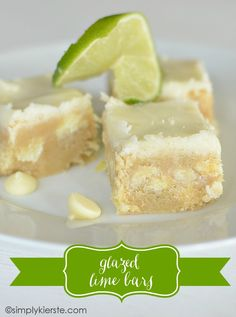 Glazed Lime Bars   http://simplykierste.com #recipe #dessert www.fashions4lv.at.nr   Fashion stylewith louis vuitton only $129.8 very very very cheap!!!!