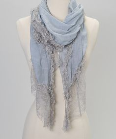 Take a look at this Blue Lace Scarf by Treska on #zulily today!