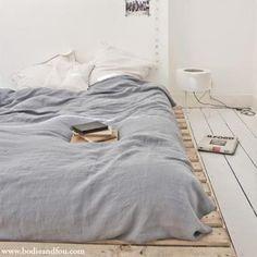 crate bed. Such a crate idea!