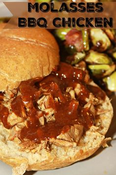 Molasses BBQ Chicken - tender shredded chicken and tangy barbecue inspired by…