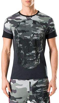 341218b06c7d Philipp Plein - T-Shirt - Camouflage - Col Rond - Manches Courtes - Homme