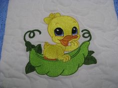 Vicki's Fabric Creations: Sweet Pea Duckie Quilt tutorial. Cute emb designs where to get etc.