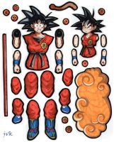 DBZ Goku jointed paper doll. by MadunTwoSwords