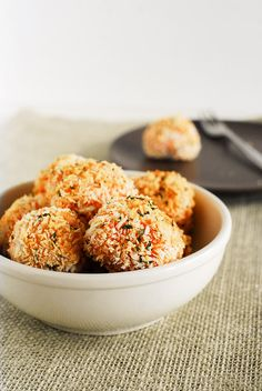 This is the sweet potato season! I used fresh harvested potatoes for these Sweet Potato Cheese Balls! A great appetizer to start your thanksgiving dinner!