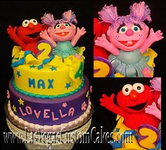 Image from http://www.lasvegascustomcakes.com/wp-content/uploads/2011/01/Elmo-and-Abby-cake.jpg.