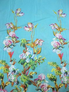 Floral Silk Fabric Flower sheer voile Supplies Fabric by yard fabric Silk squares bridal fabric Fat quarter silk materiral cheap by the yard