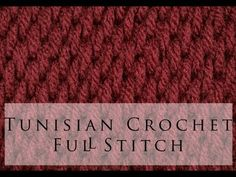 Tunisian Crochet - Cast On and Simple Stitch - YouTube