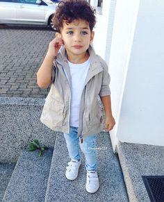 Kid fashion style fall boy baby cargo jacket blue jeans adidas