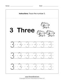 Free Number Tracing Worksheets   Preschool Printables   pk ...
