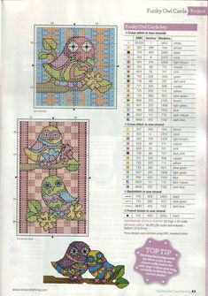 ru / Фото - The world of cross stitching 199 - tymannost Cross Stitch Owl, Free Cross Stitch Charts, Cross Stitch For Kids, Cross Stitch Boards, Cross Stitch Needles, Cross Stitch Animals, Cross Stitch Designs, Cross Stitching, Cross Stitch Embroidery