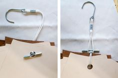 Pattern Hooks and a Rabbit Punch make for a great way to organize and store sewing patterns!