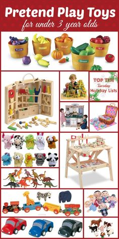 Top 10 Lists: Pretend Play Toys for under 3 year olds - http://www.powerfulmothering.com/top-10-lists-pretend-play-toys-for-under-3-year-olds/