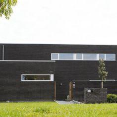 Moderne woning met plat dak huizen pinterest met - Deco moderne woning ...