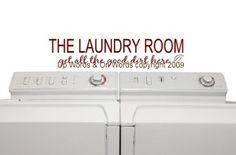 Decorative Vinyl Lettering-The Laundry Room...