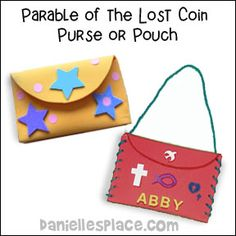 Parable of the Lost Coin Purse or Pouch Craft from www.daniellesplace.com
