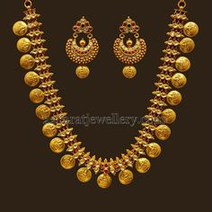 Lakshmi Necklace with Polki Stones | Jewellery Designs