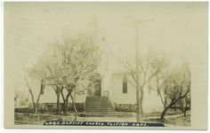 Clifton Kansas Postcard Baptist Church 1910s Real by VintageBarrel, $9.00